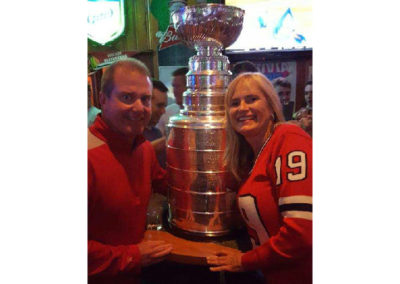 Riley's Gathering Place | Steve and Debbie with Stanley Cup